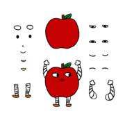 りんごろう パーツ分け
