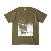 Tシャツ オリーブ Shinjuku_Building
