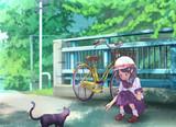 猫と遊ぶ女の子