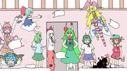 【第12回東方ニコ童祭】修学旅行の定番 枕投げ