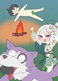 野宿で犬に大事なものを持っていかれる騎士くんと取り戻そうとするコッコロちゃん