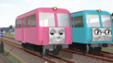 【MMD-OMF10】レールバスの一郎と春子