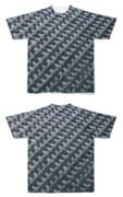 Tシャツ フルグラフィック 網目ブラック