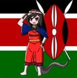 マサイの民族衣裳を来たブラックマンバちゃん