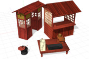 【MMD-OMF10】bst20200502江戸時代の屋台器具セット