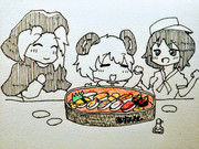 久々のお寿司で喜ぶ材料屋さん