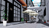 【MMDステージ配布】open cafe