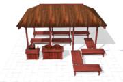 【MMD-OMF10】bst20200505街道の茶屋