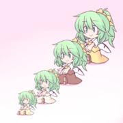 大妖精のトクダイちゃん、大妖精のダイちゃん、大妖精のナミちゃん、大妖精のチビちゃん