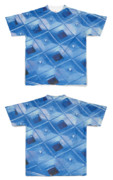 Tシャツ フルグラフィック ブルーハート