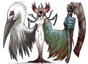 フォロワーの好きな要素を詰め込んだ創作獣を描くやつ その9