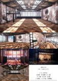【MMD-OMF10】レンガ壁の部屋-02【ステージ配布】
