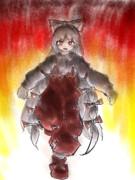燃え盛る妹紅