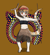 アボリジニのお祭りの服を来たタイパンさん