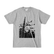 Tシャツ 杢グレー STOP!!!