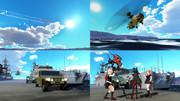 【MMD艦これxMMDGATE】ロゥリィ聖下の護衛艦視察と案内は,村雨と夕立改二に任せるね。