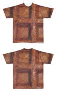 Tシャツ フルグラフィック ワッフル茶
