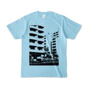 Tシャツ ライトブルー Ikebukuro_Building