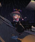 雨だから速く帰るのかー