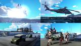 【MMD艦これxMMDGATE】護衛艦艤装:ロゥリィ聖下の護衛艦視察と案内は,村雨と夕立改二に