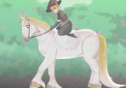乗馬を楽しむMGRとYUH