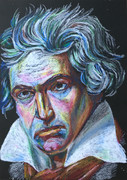 ベートーベン クレヨン画