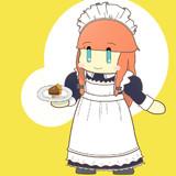 お嬢様にチョコタルトケーキを届けるメイドさん美鈴