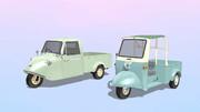 軽三輪トラック「ミゼットDK」と「ミゼットMP」