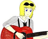 ギターを弾くイングズ