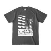 Tシャツ チャコール Ikebukuro_Building