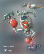 近接戦闘型MS「ピュージリズボール」(活躍想像図)