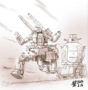連邦陸軍強襲型MS「ガンタンクウォーカー」
