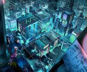 大気縦貫 宙吊り都市計画