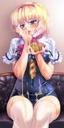 紺色の人形遣い
