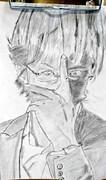 湯川学描いてみた。