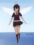 天使が舞い降りるのを見た、気がした