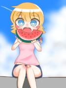 スイカを食べるMGR姉貴