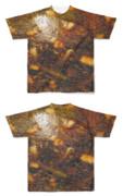 Tシャツ フルグラフィック 黒油