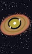 恒星PDS70と系外惑星×2