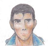 クーピーで阿部さん描いた