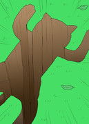 木から落ちたキャルちゃん