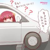 原因不明の車のトラブルに見舞われる神風さん