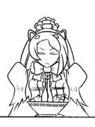 ラーメンを食べるオオアリクイ