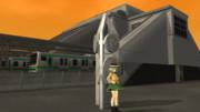 【VRM5×MMD】夕方の駅前で