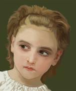 馬に乗った少女 模写