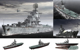 MMD用モブヘリ巡洋艦1970(モブクワ)セット