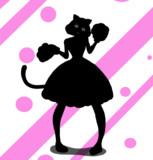 猫耳少女  シルエット