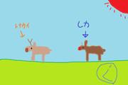 鹿とトナカイの違いを描いてみた