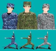 「陸!海!空!」自衛隊 迷彩服モデルを配布します