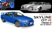 【MMD-OMF10】SKYLINE GT-R BNR34 「モデル配布あり」